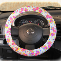 by (CoverWheel) Steering wheel cover for wheel car accessories Floral Neon Weel cover