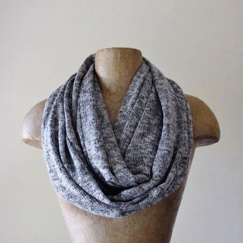 MARLED Sweater Knit Scarf - Cozy Infinity Scarf - Salt and Pepper Tube Scarf - Fashion Circle Scarf - Winter Scarf