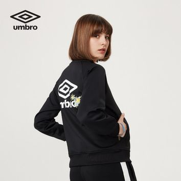 Umbro Genuine Women Jacket Baseball Cardigan Style Sport Coat Collar Sportswear UI173AP2446