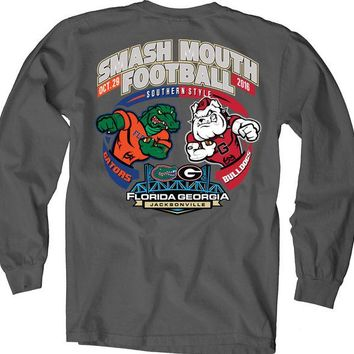 LMFON NCAA Florida Vs Georgia Dark Charcoal Smash Mouth 2016 Game Day Long Sleeve T-Shirt