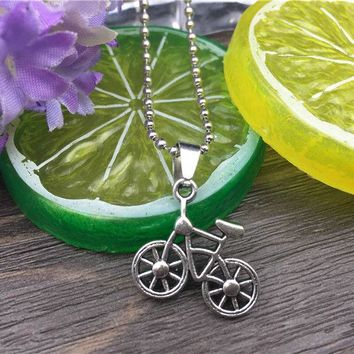 Stainless Steel Bicycle Fashion Necklace