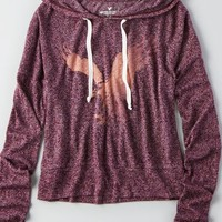 AEO Women's Patterned Signature Graphic Hoodie