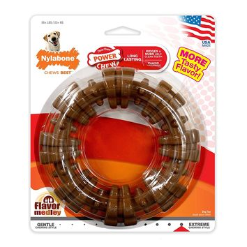 Nylabone DuraChew Ring Dog Toy, Flavor Medley, Package and Color may vary