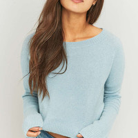 BDG Cropped Boat Neck Jumper - Urban Outfitters
