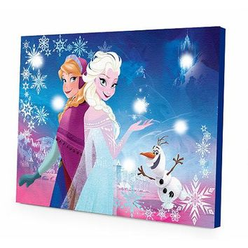Disney Frozen LED Canvas Wall Art - Walmart.com