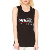 "Grey's Anatomy ""SGH Seattle Grace Hospital Intern"" Muscle Tee"