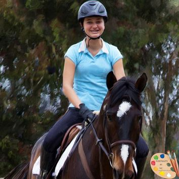 Horse and Rider Portrait 002