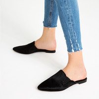 FLAT LEATHER SLIDES SHOES - View all-SHOES-WOMAN | ZARA United Kingdom