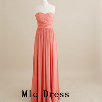New Arrival Sweetheart Sleeveless Floor-length Pleated Chiffon Evening/Party/Homecoming/cocktail dress/Bridesmaid/Formal Dress