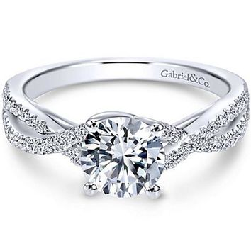 "Gabriel ""Gina"" Twist Diamond Engagement Ring"