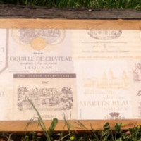 Wood serving board, serving tray, wine label theme with handles