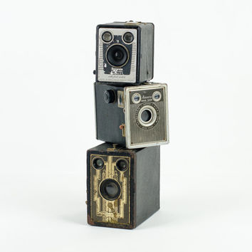Antique Box Camera Collection Kodak Eastman Ansco 1930s