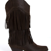 Pierre Dumas Cowgirl Fringe Boots for Women 89892-BRN