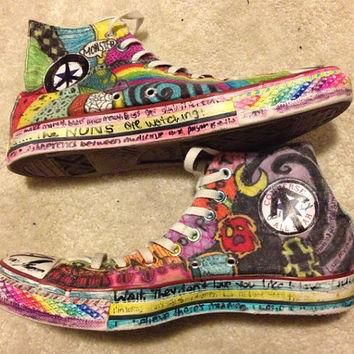 One of a Kind Customized Converse AllStar Hi Tops