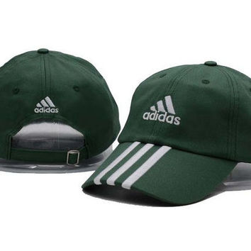 Green Adidas Women Men Sport Sunhat Embroidery Baseball Cap Hat