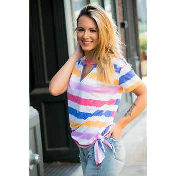 Free To Be Me Striped Top