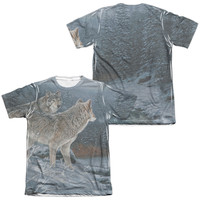 WILD WINGS/TWILIGHT HUNTERS (FRONT/BACK PRINT)-ADULT POLY/COTTON S/S TEE-SUBLIMATE WHITE
