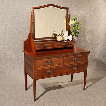 Antique Dressing Table Chest of Drawers Maple & Co Quality English c1910