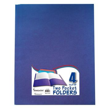 Two Pocket Folders - 4 Pack - Assorted Colors - CASE OF 48