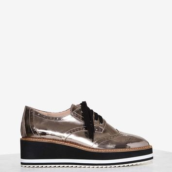 Shellys London Cece Patent Leather Oxford Shoe
