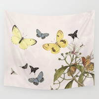 Let us dance in the sun -pink Wall Tapestry by anipani