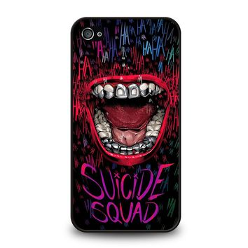 JOKER COMIC SUICIDE SQUAD HAHAHA iPhone 4 / 4S Case