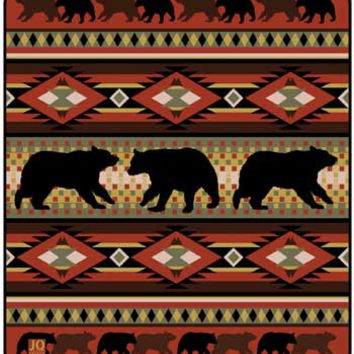 Black Bear Lodge JQ Signature Queen Blanket - Free Shipping in the Continental US!