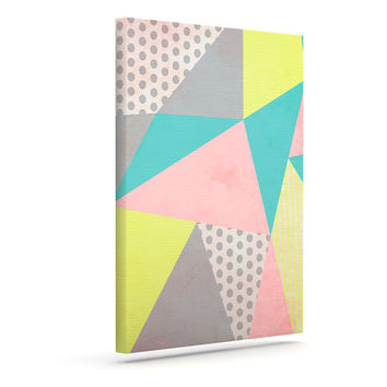 "Louise Machado ""Geometric Pastel"" Canvas Art"