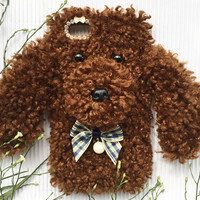 Cute Fur Teddy Dog Iphone 6 6S Plus Case Doll Gift