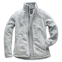 Women's Osito 2 Full Zip Jacket in High Rise Grey and Mid Grey Stripe by The North Face