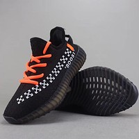 Trendsetter Off White X Adidas Yeezy Boost 350 V2 Women Men Fashion Casual Sneakers Sport Shoes