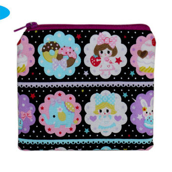 NEW Kawaii Small Zipper Pouch | Zippered Bag | Debit Card Holder | Small Wallet | Japanese