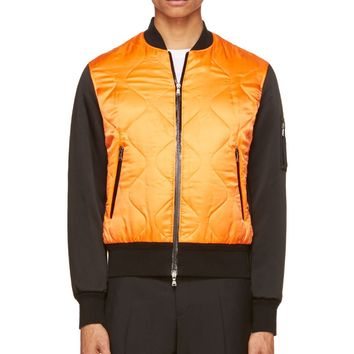 Neil Barrett Orange And Black Bomber Jacket