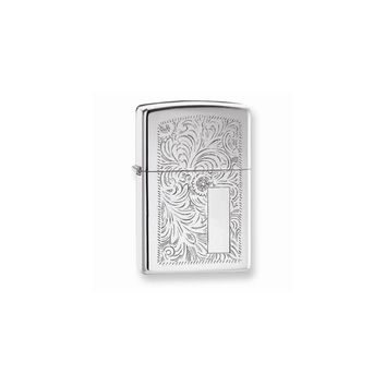 Zippo Venetian High Polish Chrome Lighter - Engravable Personalized Gift Item