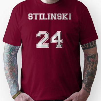 Stiles Stilinski Jersey from Teen Wolf - White Text Unisex T-Shirt