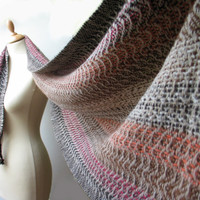 Handwoven Shawl  - First Snow - Soft and Cozy - handwoven scarf - stole - MADE TO ORDER