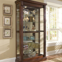 Medallion Cherry Curio Cabinet by Pulaski Furniture
