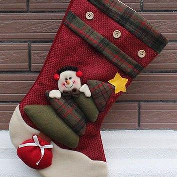Christmas Snowman Hanging Kids Candy Present Sock Party Decor