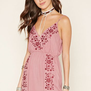 Floral Embroidered Cami Dress