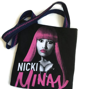 Nicki Minaj Bag Upcycled T-shirt Tote Bag
