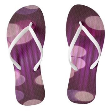 Abstract Magenta Party Lights Pattern Flip Flops