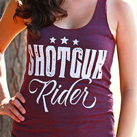 Shotgun Rider | Women's Racerback Tank Top