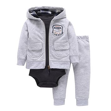 Boy clothes baby girl clothes 3 piece of set baby clothing set with zipper babes winter new style snowsuit