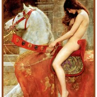 Lady Godiva by John Maler Collier Counted Cross Stitch or Counted Needlepoint Pattern