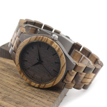 BOBO BIRD Wooden Watches Wood Men Wristwatches with Wooden Band Japan Move' 2035 Quartz Wood Watch Men relogio masculino D30