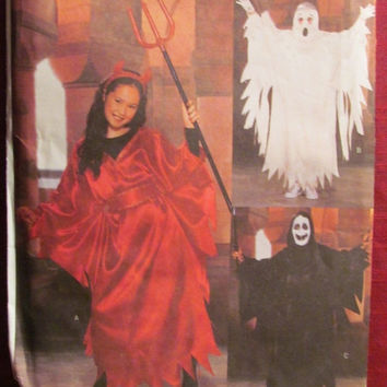 SALE Uncut Butterick Sewing Pattern, 3995! All Sizes Kids/Children/Boys/Girls Halloween Costumes/Devil/Ghost/Pullover Robes/Death/Witches