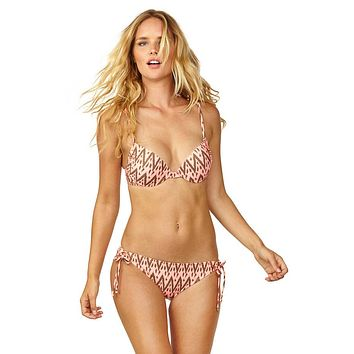 Live It Up Underwire Bikini Top - Radio Waves Print