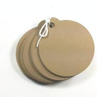 100 Kraft Round Tags With Holes, Kraft Blank Tag With Holes, DIY Wedding Favor Tag, DIY Blank Kraft Tag, Thank You Tag