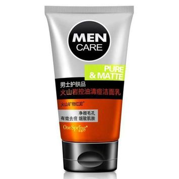ESBON MEN'S volcanic rock minerals Whitening Moisturizing Cleanser Facial Care,acne treatment Cleansing Skin Care Face Washing Product