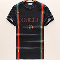 GUCCI male tide brand fashion short-sleeved print F-A00FS-GJ Black